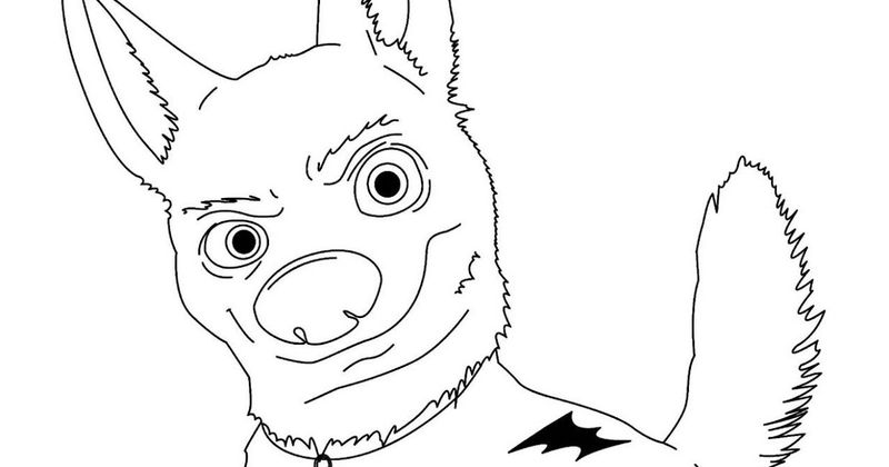 bolt and penny coloring pages