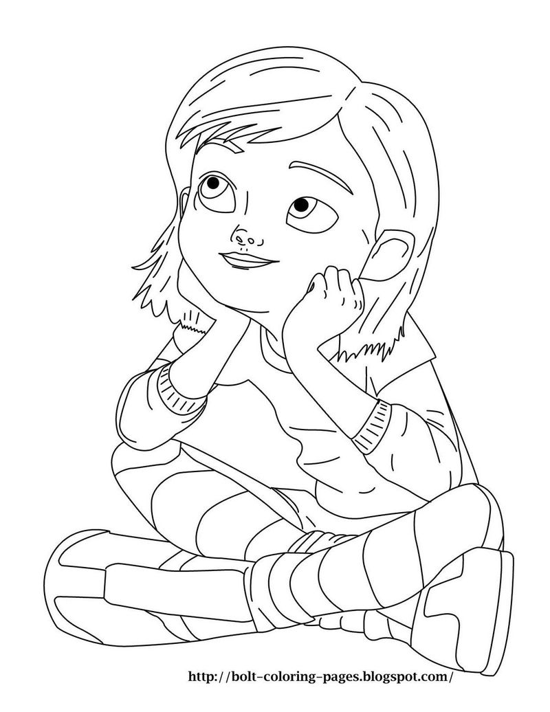 bolt cartoon coloring pages