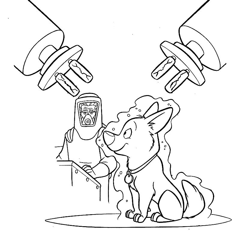 bolt dog coloring pages