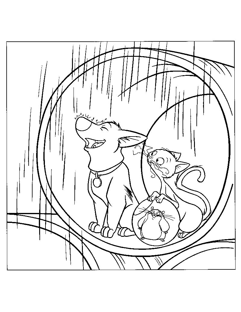 bolt movie coloring pages