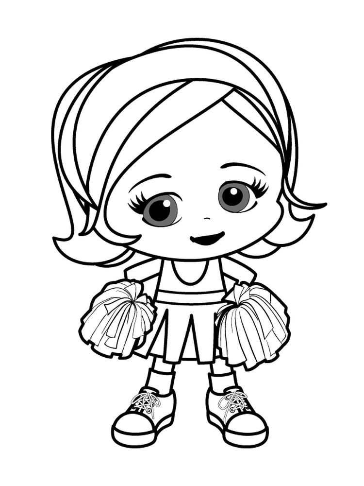 bratz cheerleader coloring pages free