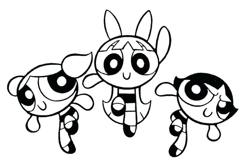 buttercup powerpuff girl coloring page