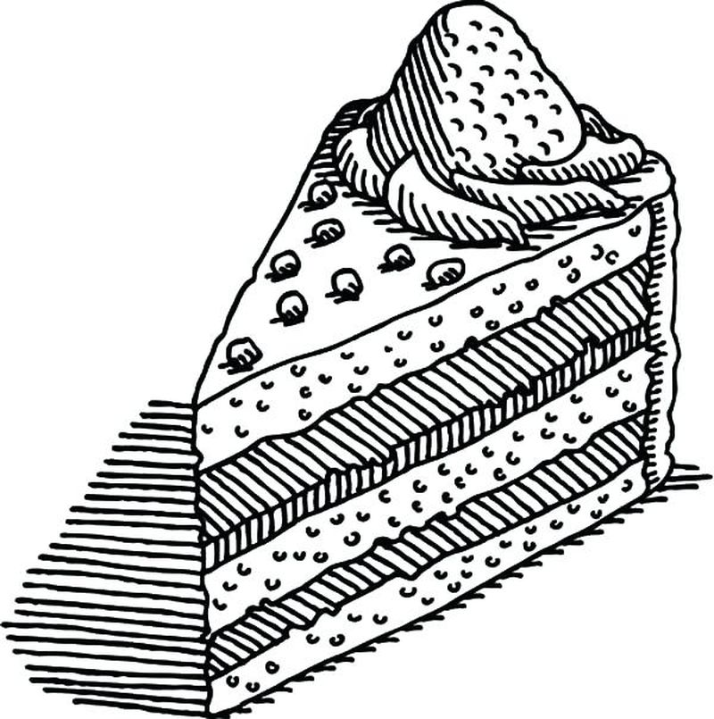 cake and candy coloring pages