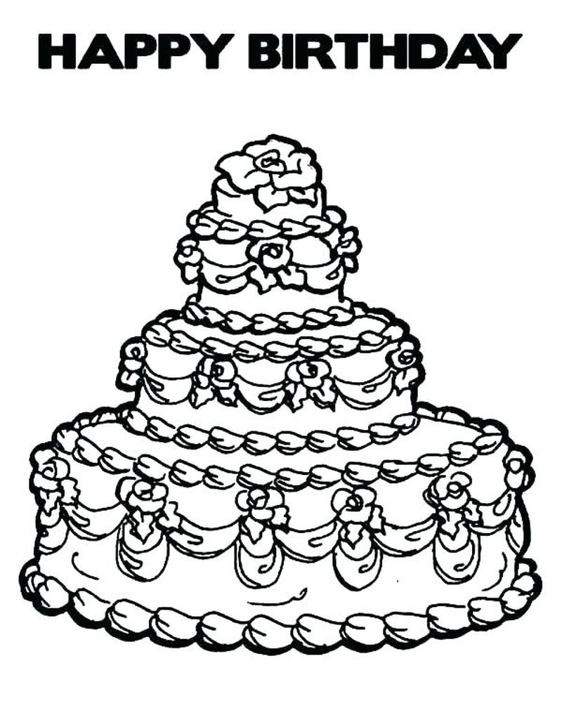 cake and ice cream coloring pages