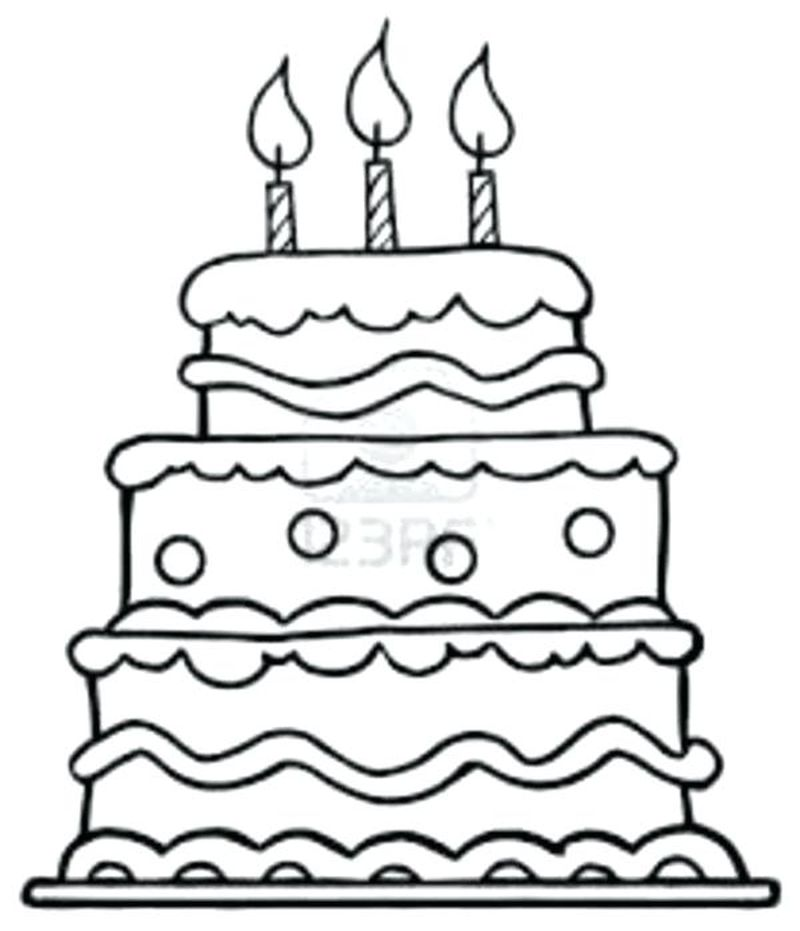 cake coloring pages pdf