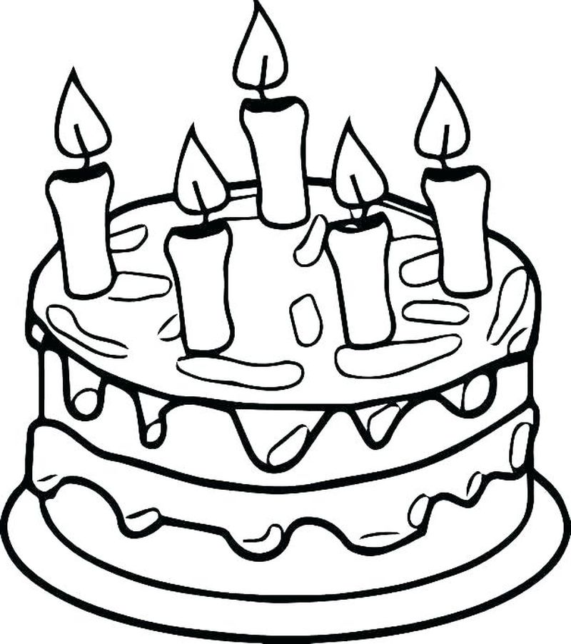 cake coloring pictures to print