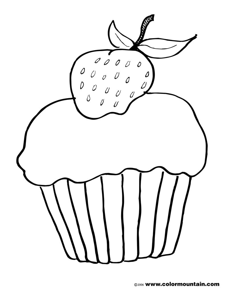 cake colouring in pages