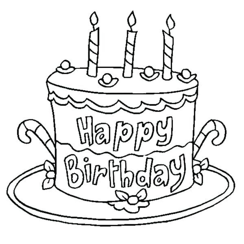 cake colouring pages free