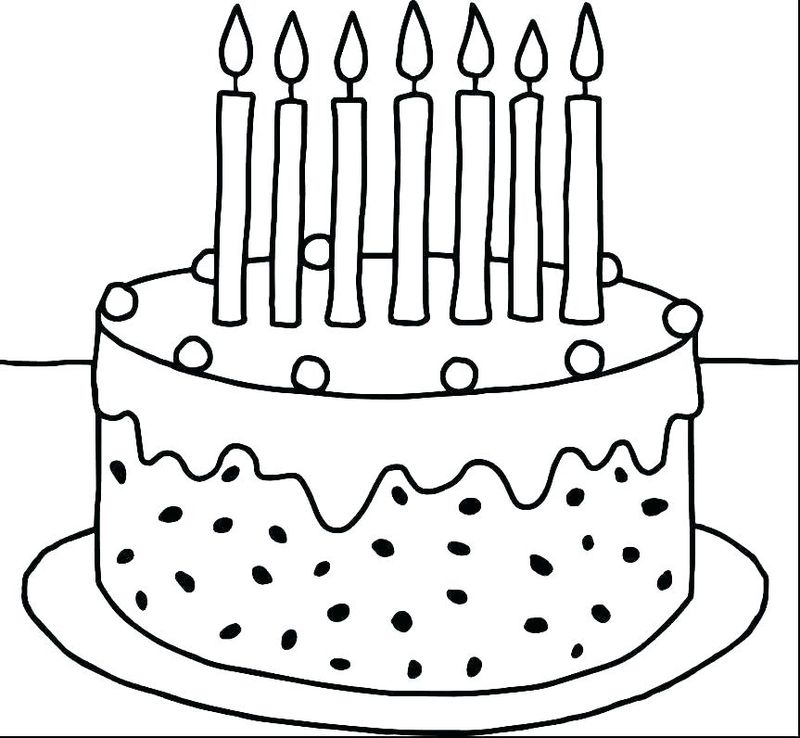 cake colouring pages pdf
