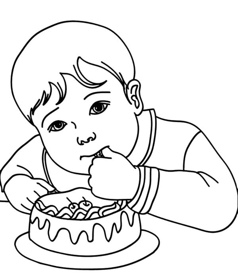 cake colouring pages printable