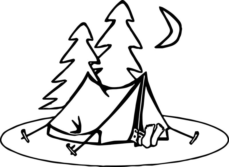 camping coloring pages free printable