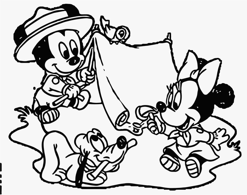 camping coloring pages kindergarten