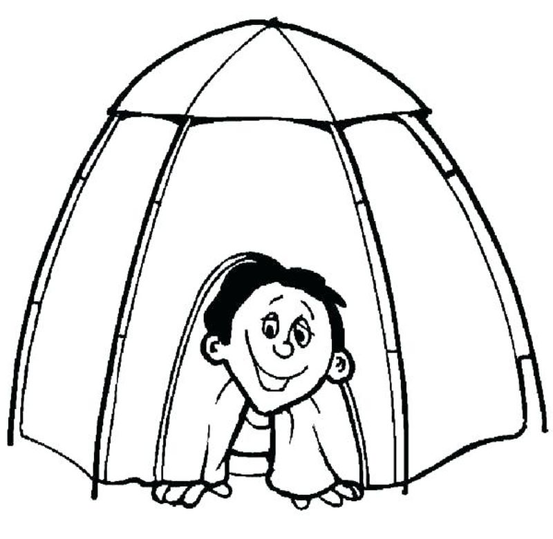 camping coloring sheets for preschoolers
