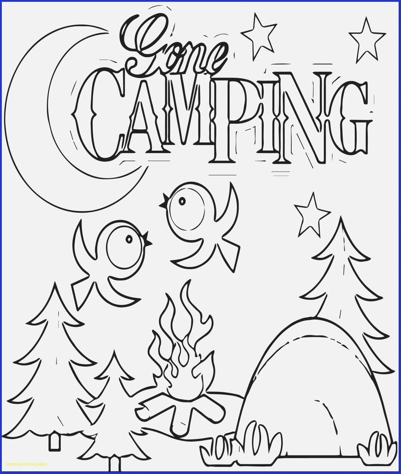 camping craft coloring pages
