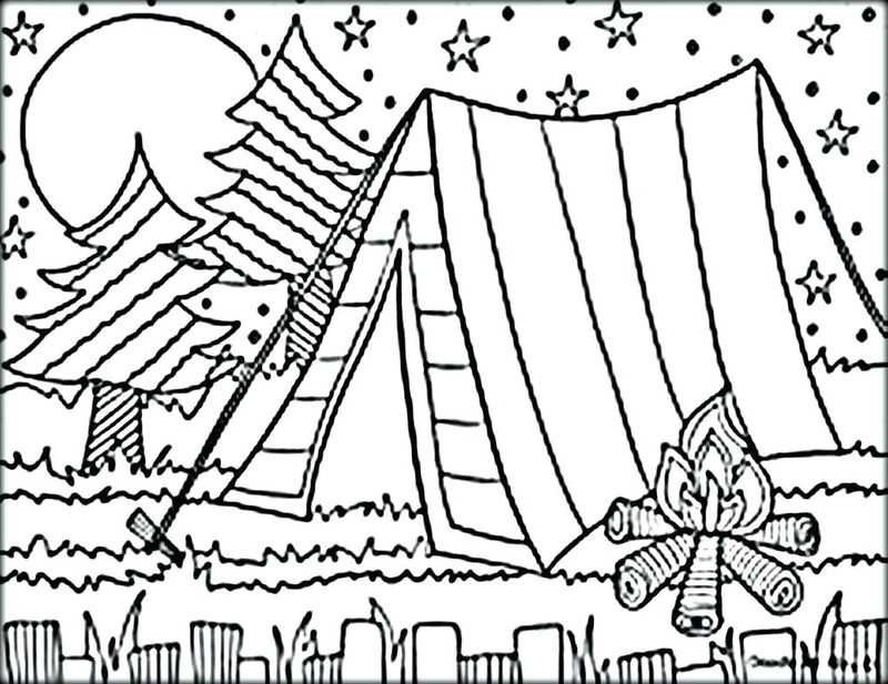 camping trailer coloring pages