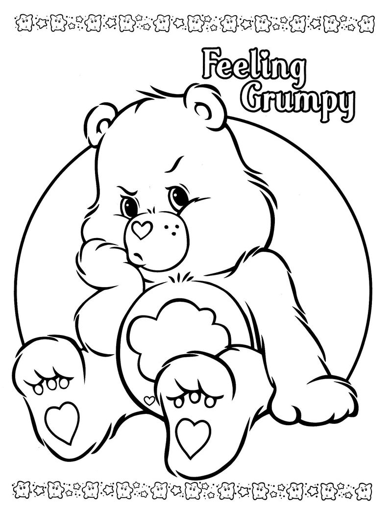 care bear coloring book pages