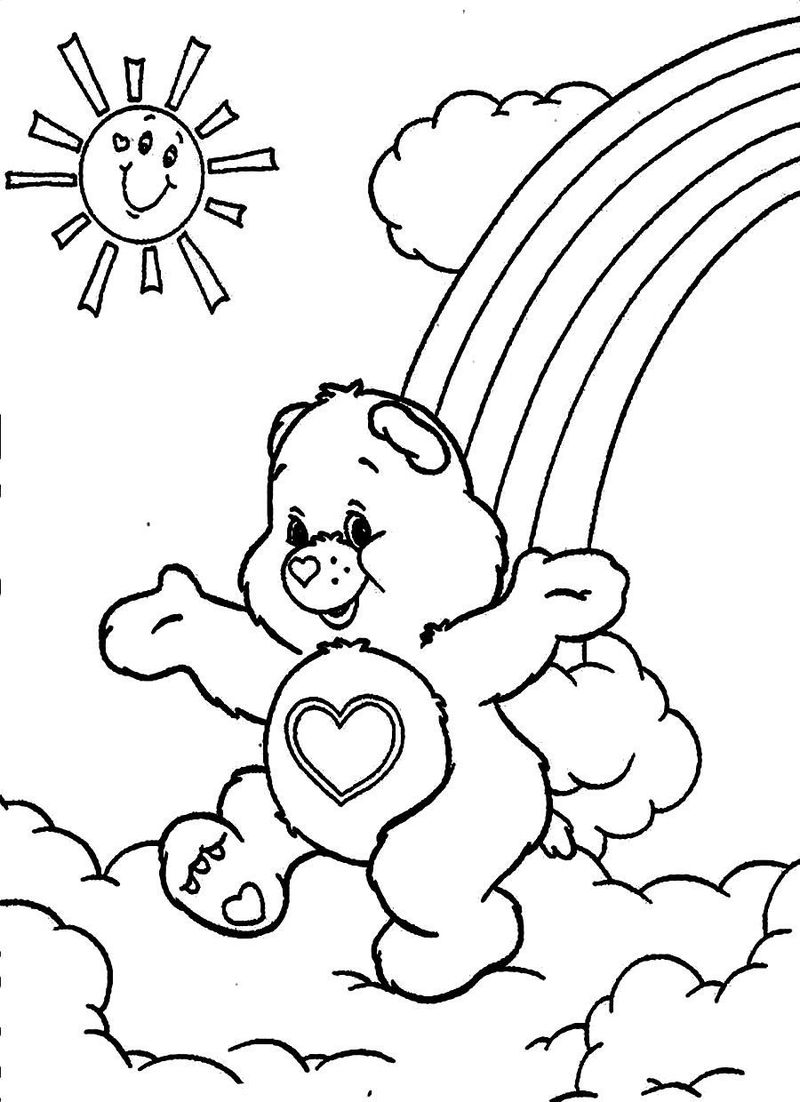 care bear colouring pages
