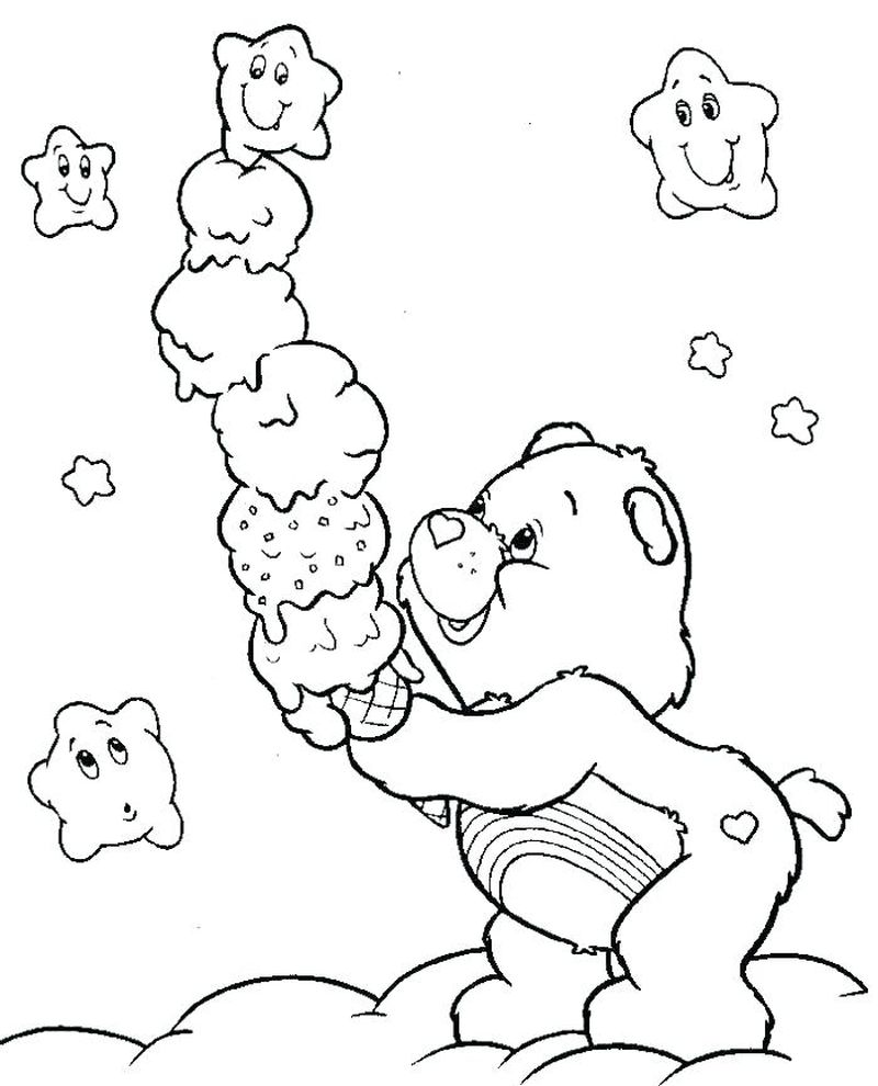 care bears coloring sheets free
