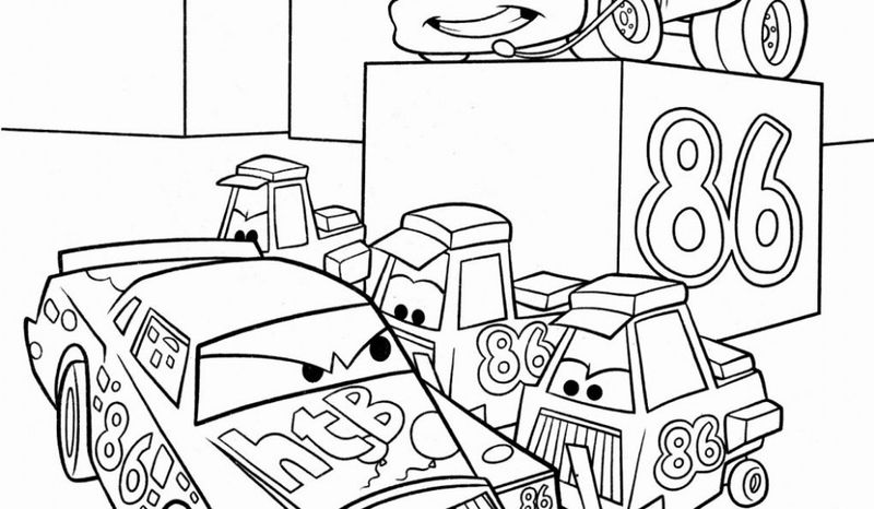cars 3 characters coloring pages free