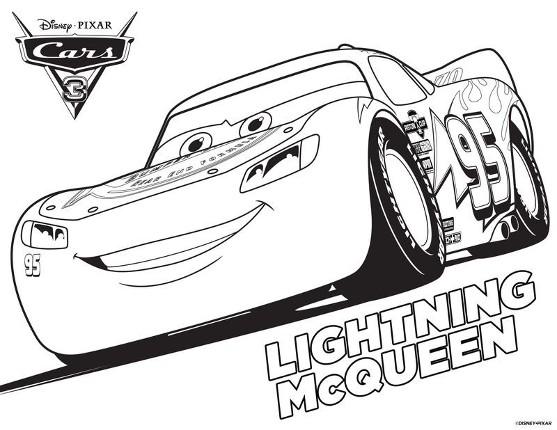 cars 3 coloring pages online free