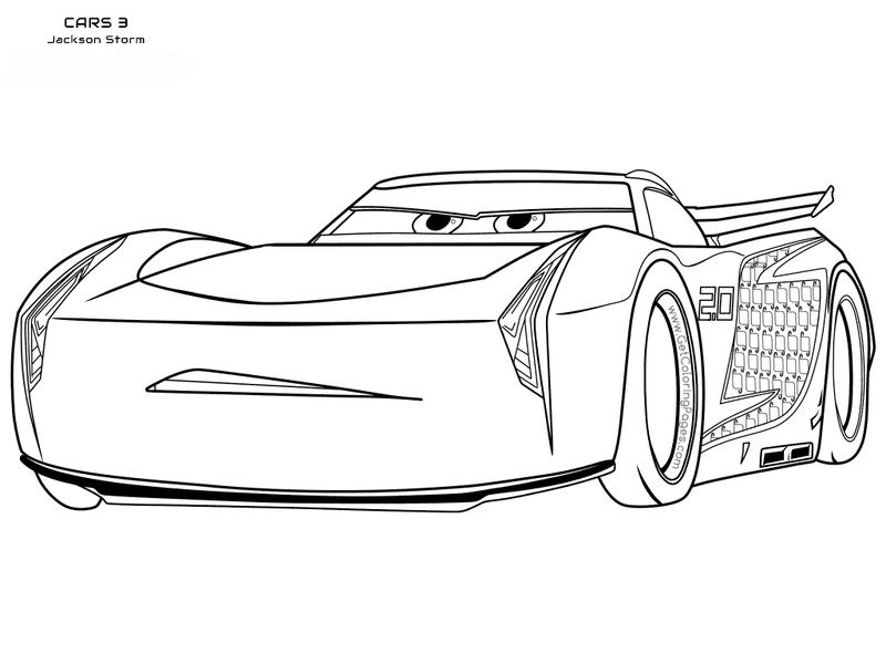 cars 3 colouring pages pdf free