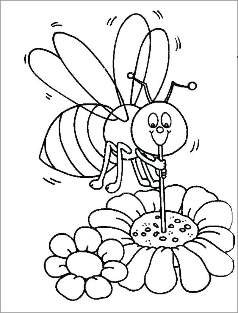 cartoon bumble bee coloring pages
