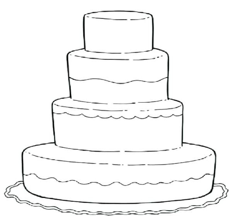 cartoon cake coloring pages