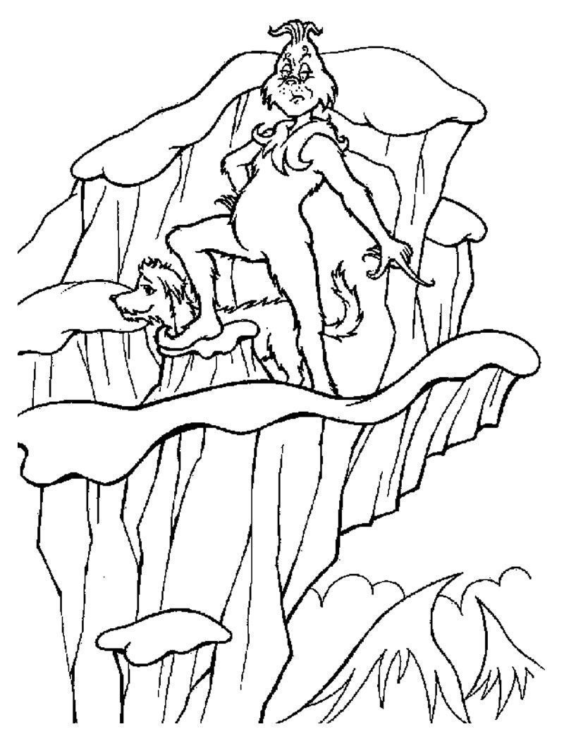 cartoon grinch coloring pages