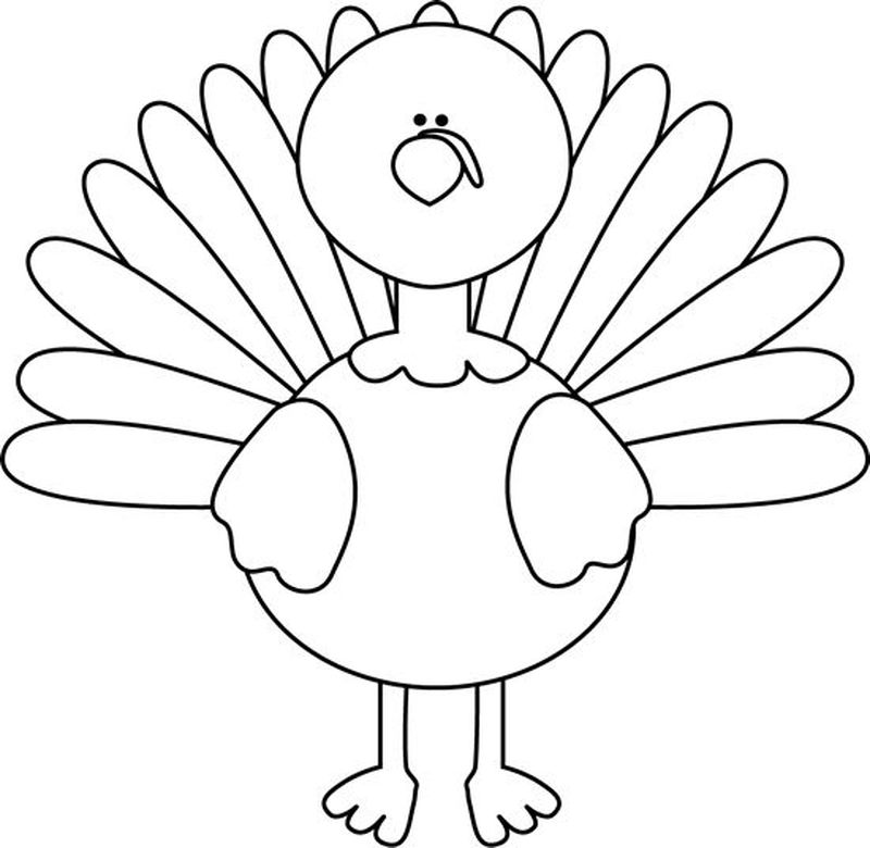 cartoon turkey coloring pages