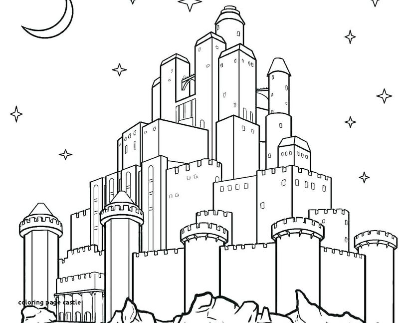 castle coloring book pages to print