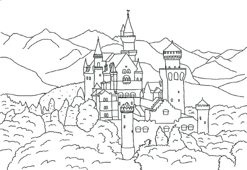 castle coloring in pages