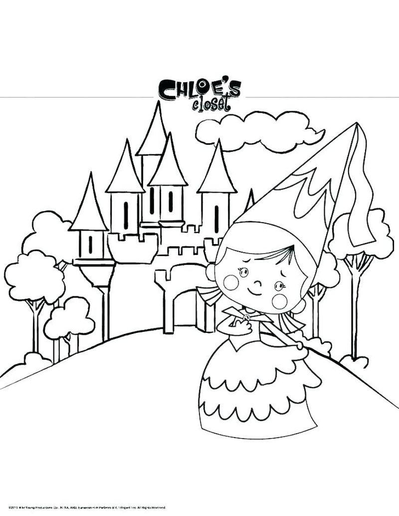castle colouring in pages