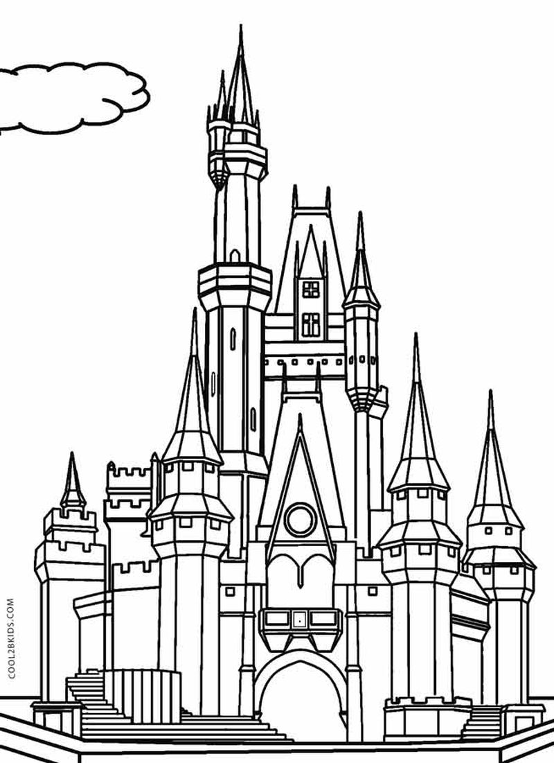 castle colouring pages free