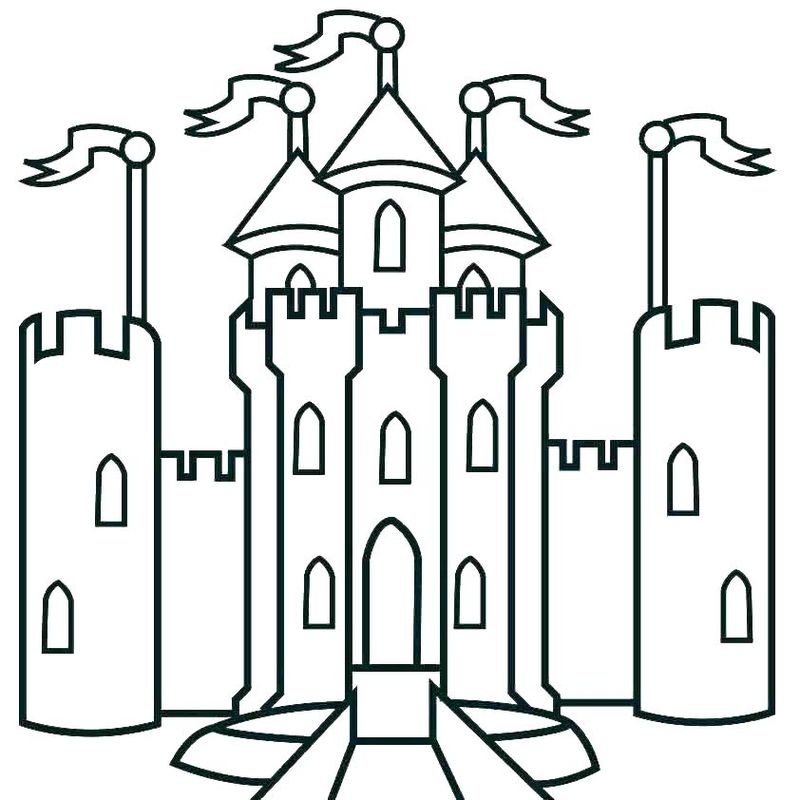 castle colouring pages printable