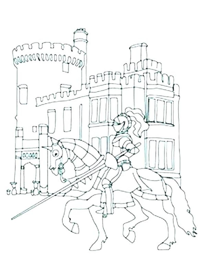 castle colouring pages to print