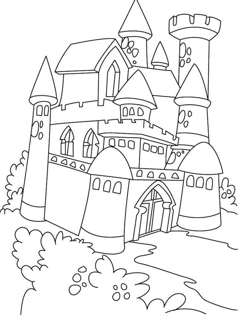 castle for coloring pages