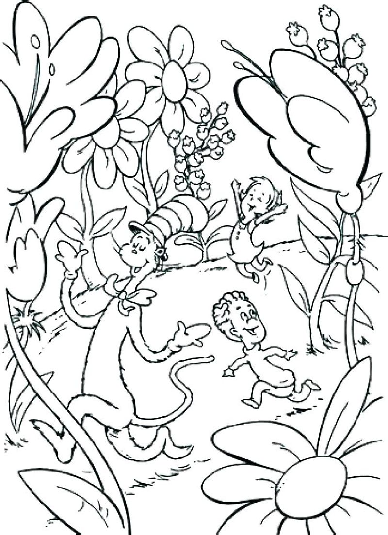 cat and the hat coloring sheets