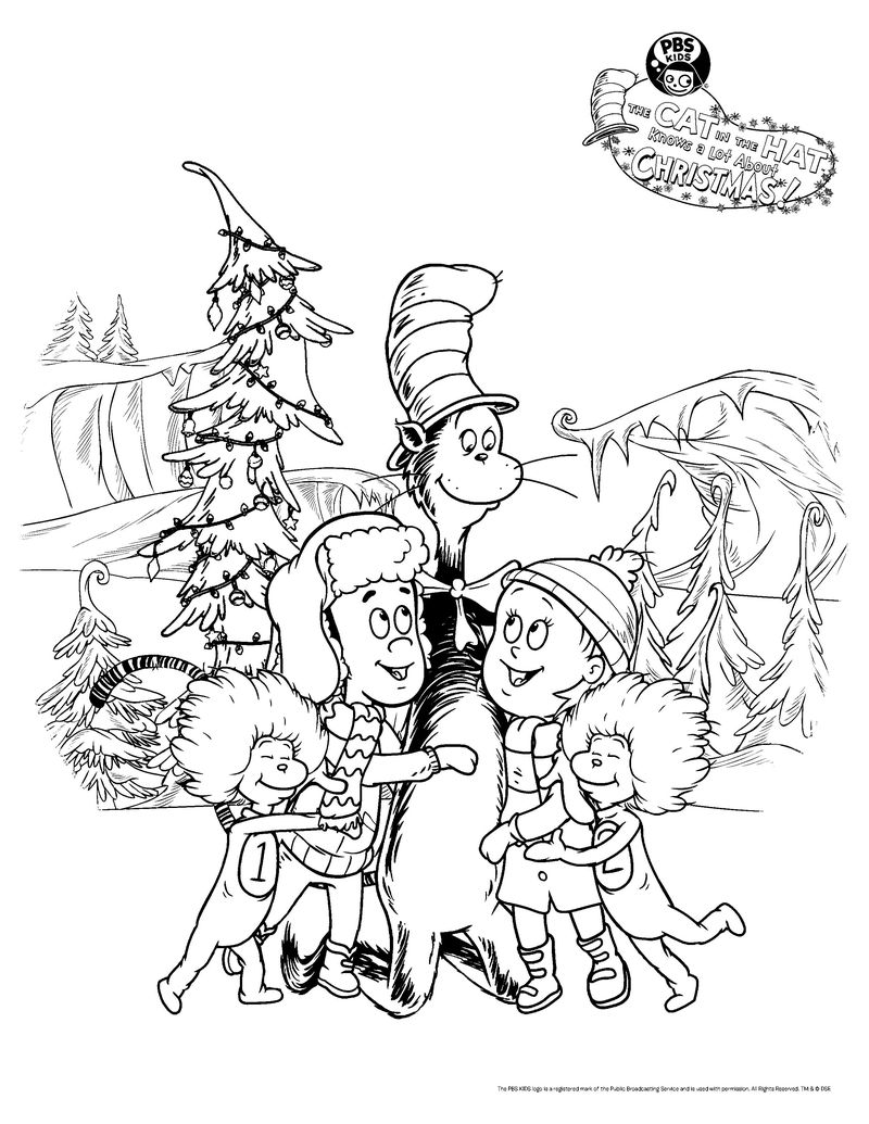 cat in the hat coloring pages free printable