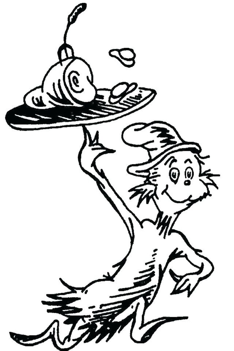 cat in the hat movie coloring pages
