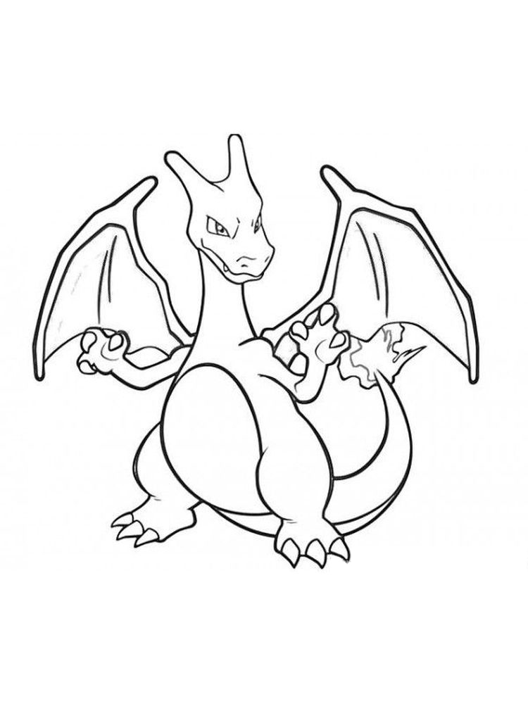 charizard coloring pages free