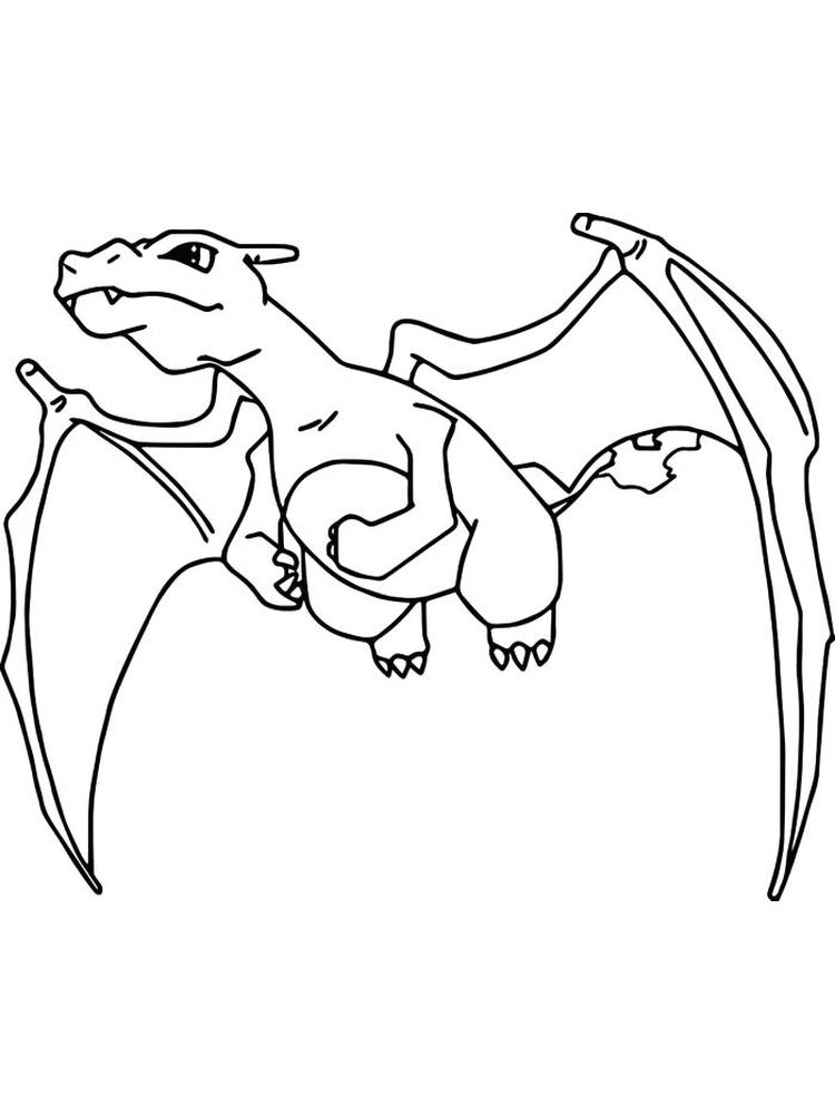 charizard coloring pages printable