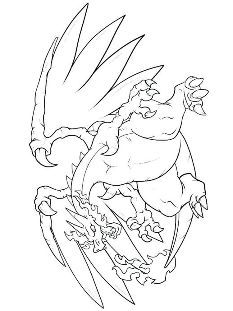 charizard gx coloring pages
