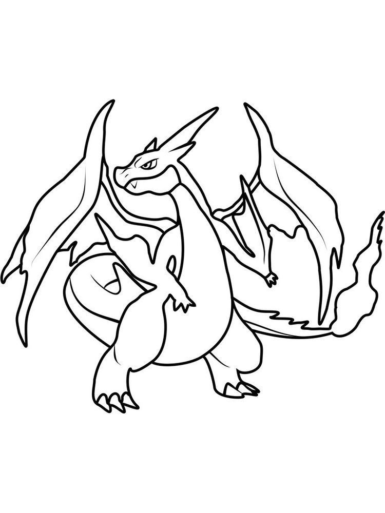charizard x coloring pages print