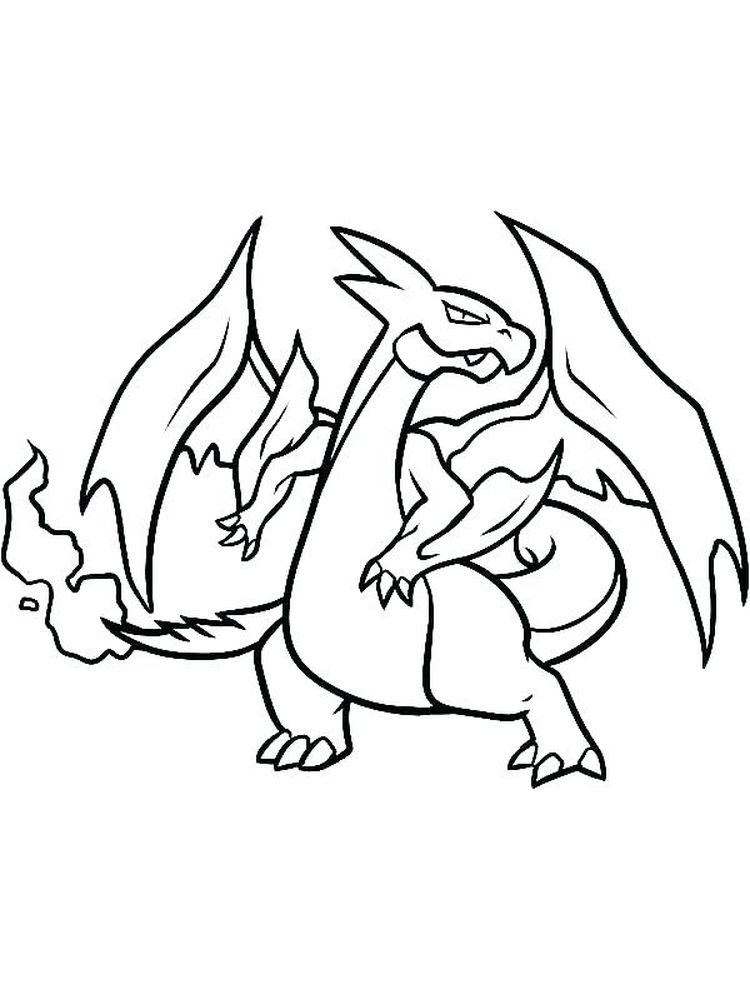charizard x coloring pages