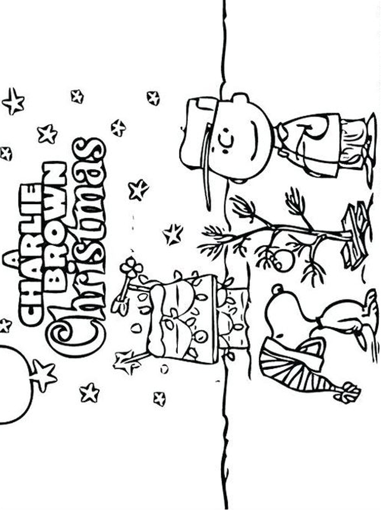 charlie brown christmas coloring pages 7