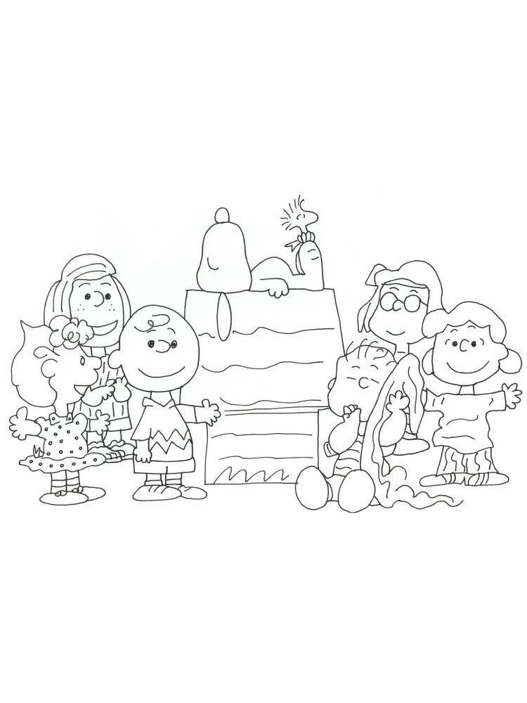 charlie brown christmas coloring pages pdf