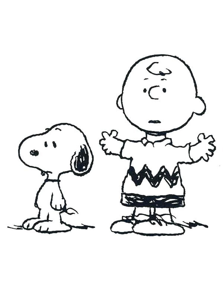 charlie brown coloring book pages