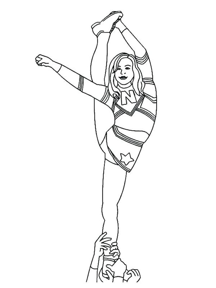 cheerleader coloring pages online