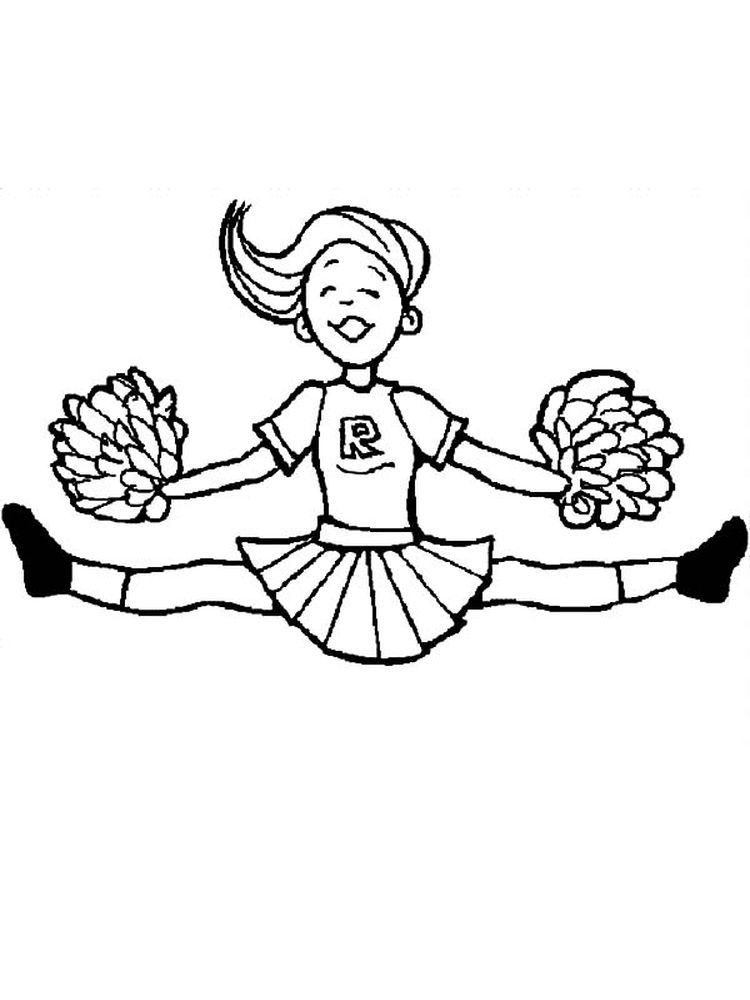 cheerleading coloring pages pdf