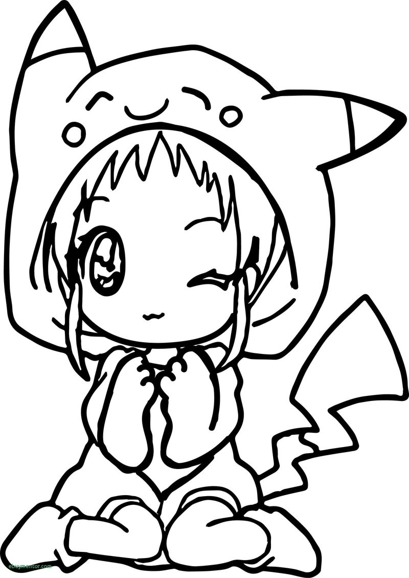 chibi anime girl coloring pages